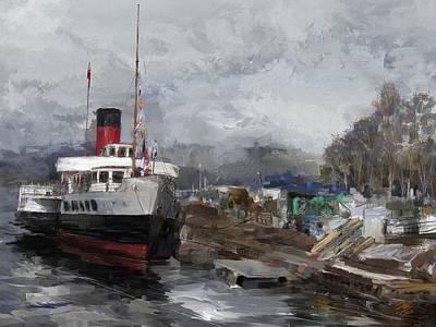 Digital Art - Boat Dock by Debra Baldwin