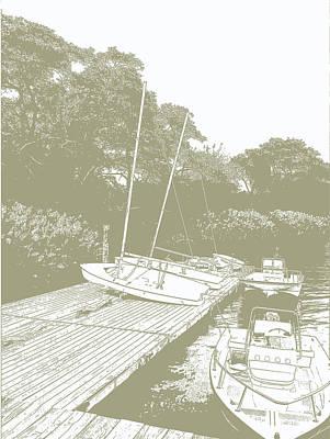 Boat Dock Print by Janice Knauss
