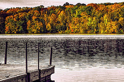 Photograph - Boat Dock Lake Le Aqua Na Lena Illinois by Roger Passman
