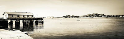 Photograph - Boat Dock, North Shore, Ma by Steven Shapse