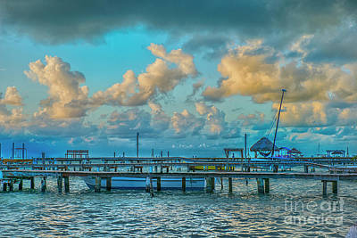 Photograph - Boat Docks And Sunrise Clouds by David Zanzinger