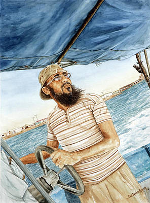 Painting - Boat Driver by Sethu Madhavan