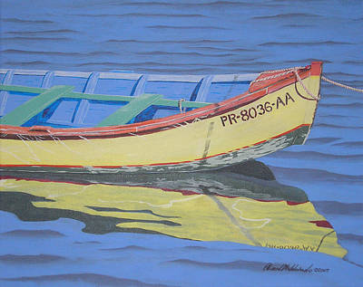Painting - Boat by Edward Maldonado
