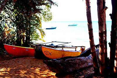 Photograph - Boat Generations At Lake Malawi 02 by Dora Hathazi Mendes