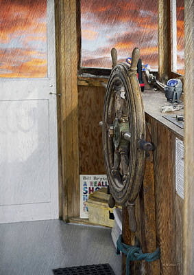 Mixed Media - Boat Helm Console by Brian Wallace