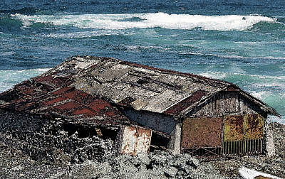 Photograph - Boat House And Ocean  by Cliff Norton