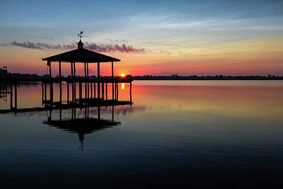 Photograph - Boat House At Sunrise by Debra and Dave Vanderlaan