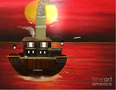 Painting - Boat House by Belinda Threeths