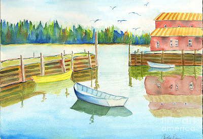 Painting - Boat House by Carolyn Weir