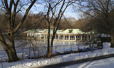 Photograph - Boat House Central Park Ny by Henri Irizarri