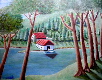 Painting - Boat House by Gregory Dorosh