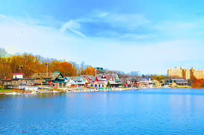 Waterworks Digital Art - Boat House Row From West River Drive by Bill Cannon