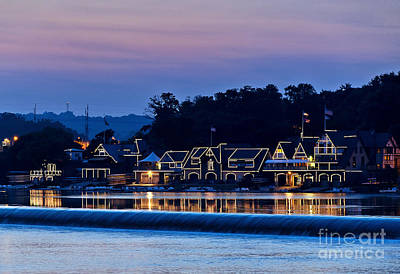 Boat House Row Art Print