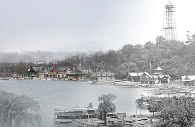 Boat House Row Paddle Boats Art Print