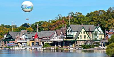 Boat House Row Panoramic Print by Frozen in Time Fine Art Photography