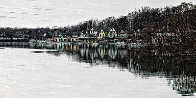 Buildings Photograph - Boat House Row by Tom Gari Gallery-Three-Photography
