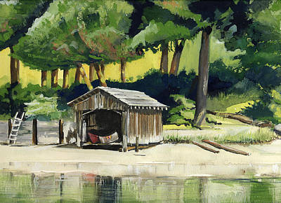 Painting - Boat House  by Synnove Pettersen