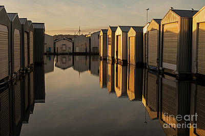 Photograph - Boat Houses In Rows  by Jim Corwin