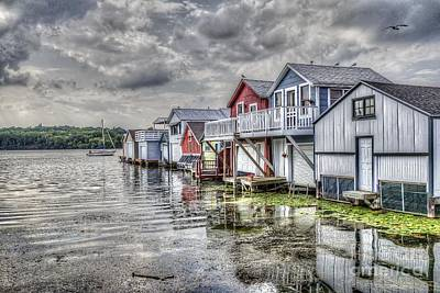 Boat Houses In The Finger Lakes Art Print