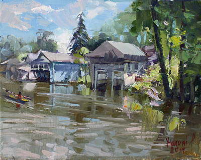 Boat House Painting - Boat Houses by Ylli Haruni