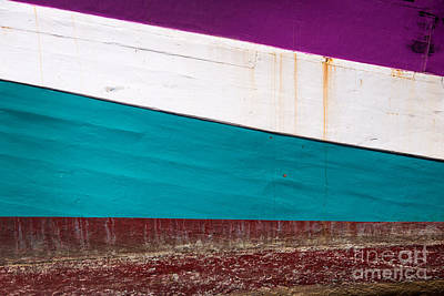 Boat Hull Abstract Art Print by Delphimages Photo Creations