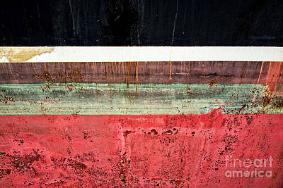 Boat Hull Art Print by Delphimages Photo Creations