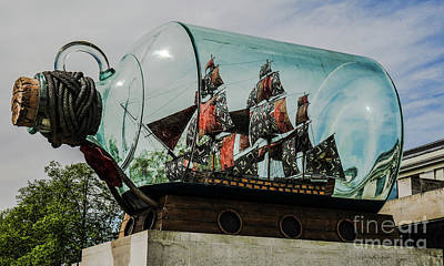 Photograph - Boat In A Bottle by Lexa Harpell