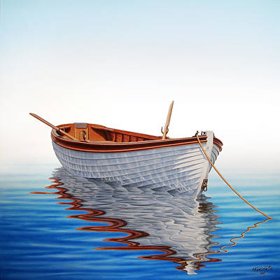 Boat In A Serene Sea Art Print by Horacio Cardozo