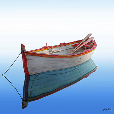 Painting - Boat In A Tranquil Bay by Horacio Cardozo