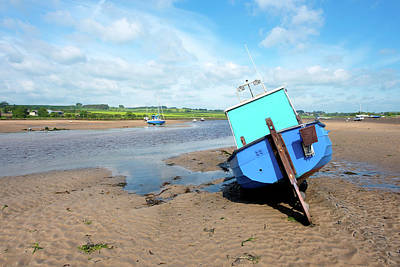 Photograph - Boat In Alnmouth Harbour by Jean Gill