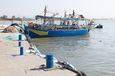 Boat In Blue Art Print