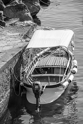 Photograph - Boat In Cinque Terre Riomaggiore by John McGraw