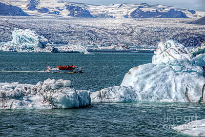 Photograph - Boat In Ice Flow by Rick Bragan