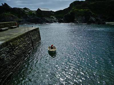 Photograph - Boat In Polperro Harbour Cornwall by Richard Brookes