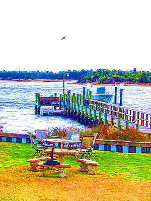 Swansboro Painting - Boat In Swansboro  2 by Lanjee Chee