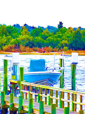 Swansboro Painting - Boat In Swansboro 7 by Lanjee Chee