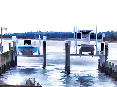Swansboro Painting - Boat In Swansboro  by Lanjee Chee