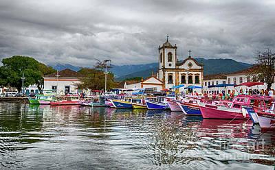 Digital Art - Boat In The Bay by Pravine Chester