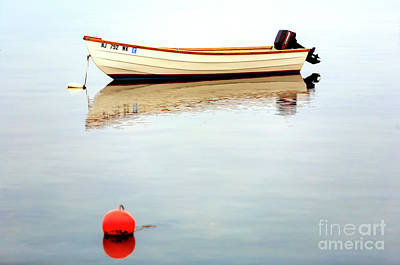 Photograph - Boat In The Beach Haven Bay by John Rizzuto