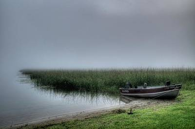 Photograph - Boat In The Fog by Dave Rennie