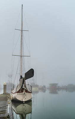 Photograph - Boat In The Fog by Greg Nyquist