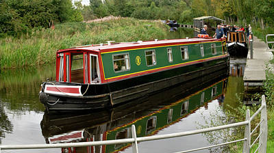 Photograph - Boat In The Forth And Clyde Canal At The Falkirk Wheel by Elena Perelman