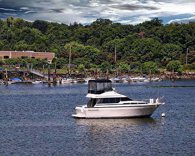 Photograph - Boat In The Harbor by Anthony Dezenzio