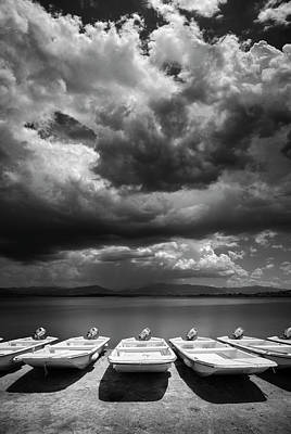 Photograph - Boat Line At Lake Henshaw by William Dunigan
