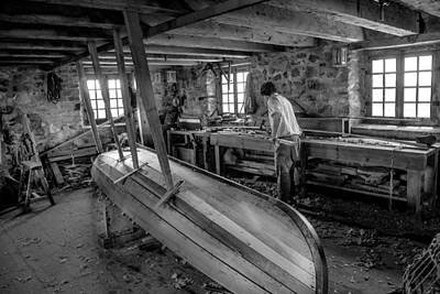 Photograph - Boat Maker At The Base. by Patrick Boening
