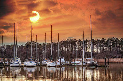 Photograph - Boat Marina On The Chesapeake Bay At Sunset by Patrick Wolf