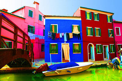 Digital Art - Boat Matching House by Donna Corless