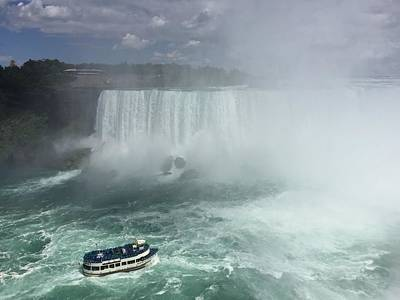 Photograph - Boat Near Niagara Falls by Samantha Delory