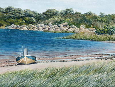 Wall Art - Painting - Boat On A Beach by Melinda Zielfelder