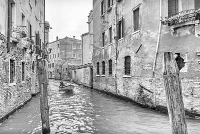 Photograph - Boat On A Canal In Venice by Georgia Fowler
